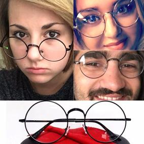 Armacao Oculos Retro Dourado - Óculos Preto no Mercado Livre Brasil 933df5ce4d