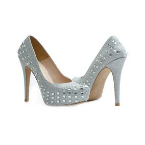 98a6d1c67 Tacones Prada - Zapatos Plateado en Mercado Libre México