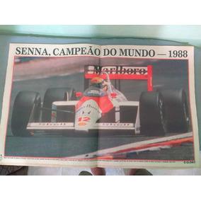 Jornal O Globo 1988 - Poster Ayrton Senna Campeão Mundial