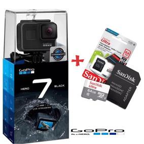 Câmera Gopro Hero 7 Black 12mp 4k + Cartão 64gb Classe 10