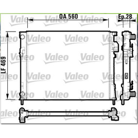 Radiador Valeo Renault Trafic 1.9l 2011-2014