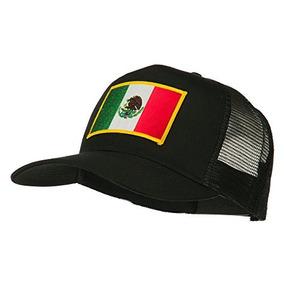 Gorra De Malla Con Parche De La Bandera De Mexico Color Negr 44a7bdcafd2