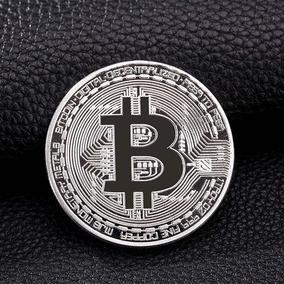 Bitcoin Moeda Comemorativa Física Prata Colecionador Present
