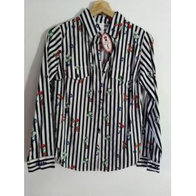 fba6e59105c3c Camisa Negra Con Rayas Con Flores - Ropa y Accesorios en Mercado ...