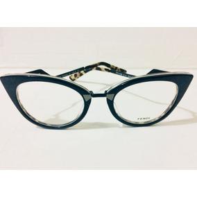 c81a25e1dbaa8 Oculos Armação De Grau Fendi Preto E Degrade - Lançamento