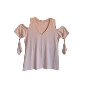 Blusa Ombros De Fora Camiseta Off White Creme Tam M 3c0f7180c97