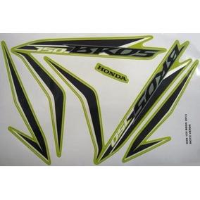 Jogo Adesivo Nxr 150 Bros 13 Verde - Frete R$9,90