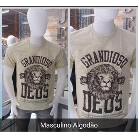 Kit Camisetas Masculina Frase Gospel 3 Unidades