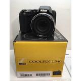 Camara Nikon L340, X28, Como Nueva, Cargador, Orezca