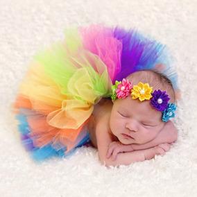 Tutu Para Bebe Recien Nacida Varios Colores Con Tiara
