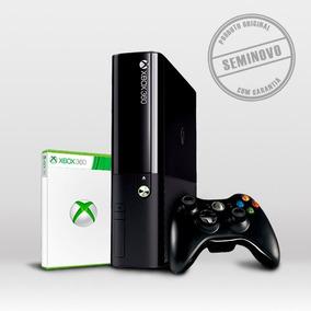 Xbox 360 Super Slim Com Controle + Jogo - Seminovo
