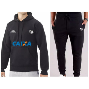 Kit   Blusa + Calça Moletom Santos Time Futebol Moleton 9a4cf0aab2630