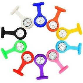 Relógio De Bolso Silicone Enfermagem Médicos Saúde