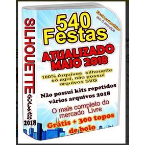 87662b71c515d Festa Pronta Silhouette 2018 - Artesanato no Mercado Livre Brasil
