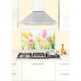 Tapiz Para Cocina Tulipanes Rollo Mide 74 X 45 Cm Mod. 16815