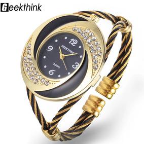 2ad3b0e80e3 Relogio Quiksilver Dourado Top Feminino - Relógios De Pulso no ...