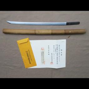 Ko-katana Wakizashi Antiga Original Com Certificado Nbthk