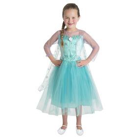 Disfraz Disney Original Elsa Frozen De Lujo Fantasy Ruz