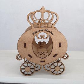 40 Carruagem Princesa Coroa Centro De Mesa Cachepô