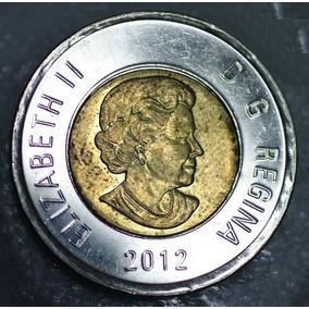 Moeda Canada 2 Dollars 2012 Elizabeth Ii 4th Portrai Km#1257