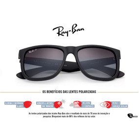 Ray Ban Justin Polarizado Original - Óculos no Mercado Livre Brasil db9406f07a