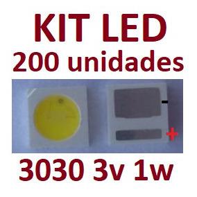 200 Led Smd 3030 3v 1w Blacklight Tv Panasonic E Outros