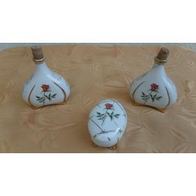 Perfumeros Y Alhajero Ceramica Antigua