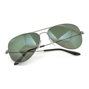 f106f39f3344f Ray Ban Aviador Flat Metal Rb3513 147 71 Cinza Lentes Verdes