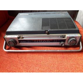 Vitrola Antiga Portátil Rádio Am Fm Grown Leia Descrição