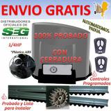 Motor Porton Corredizo Automatico Seg Abs 1/4 400k Electrico