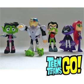 Boneco Titãs Ação Cinemas Jovens Teen Titans Go Kit Com 7 3fdce3b82d0