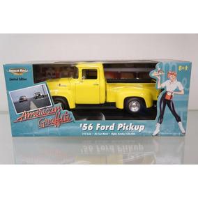 Mini Pickup Ford F-100 1956 Ertl 1:18 American Graffiti Raro