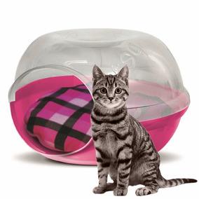 Casa Cama Cueva Gato Perro Plast Pet Cave Snow Rosa C/envío