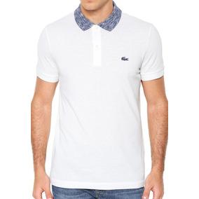 Camisa Polo Colarinho Mesclado Lacoste Regular Fit Em Petit bcddaa461ab