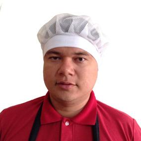 Touca Toquinha Toca Redinha Tela Branca De Cozinha Uniseex · R  10 70 f4d8a54be15af
