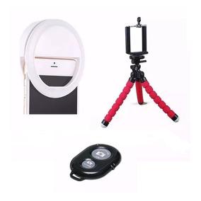 Luz Anel Led Ring Light Celular+ Mini Tripé Flexível Selfie