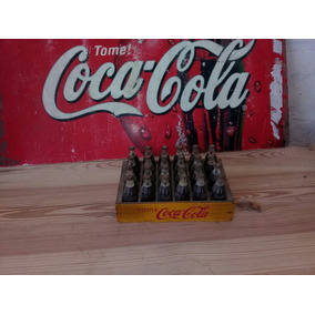 Casillero De Coca Cola De Madera De 24 Botellas Mini