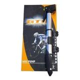 Bomba De Ar Gts Portátil Alumínio Bico Duplo Bicicleta