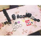 Nikon D7200 Full Equipo Lente 500mm 300mm 50mm
