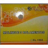 Molinete Elite 3 Rolamentos - El 1502 Preto Novo Original