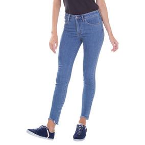 ae454aa13 Calça Skinny Marmorizada Jeans Médio Lunender - Calças Feminino Azul ...