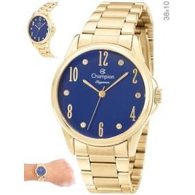 16b22f3b459 Relogio Champion Dourado E Azul - Relógios no Mercado Livre Brasil