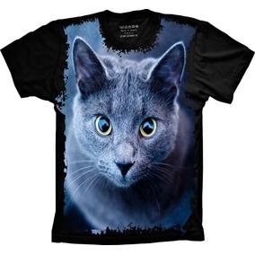 Camisa, Camiseta Psicodelica Gato Animal Personalizada Top