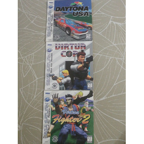 Kit Daytona Usa + Virtua Cop + Virtua Fighter 2 Originais!!