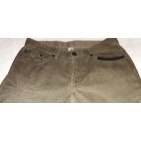 Pantalon Beige Pana Con Detalles Piel Cafe Muy Padres