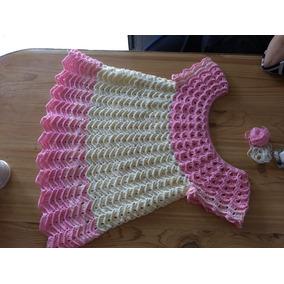Vestido Crochet O Tejido Para Niña