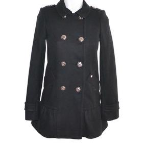 Juicy Couture Gabardina Negra Corta 14 Mrsp$6400