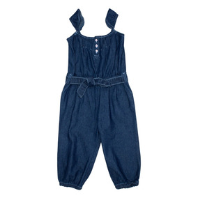 Jumpsuit Bebe Niña Tipo Mezclilla Marino 0afde7b2bfa9