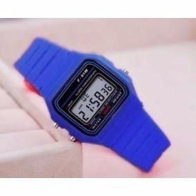 627f6adae94 Relógio Dourado Com Azul Pulseira De Borracha Azul Casio - Relógios ...