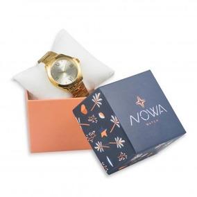 Relógio Nw 1001k Nowa Feminino Aço Inoxidavel Original